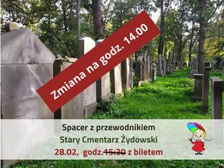 Spacer z przewodnikiem Stary Cmentarz Żydowski