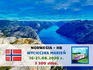 Norwegia - wycieczka marzeń >16-21.08.2020