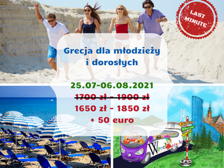 Grecja dla młodzieży i dorosłych - 25.07-6.08.2021
