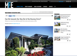 MFE Article Innovate out of Housing Cris