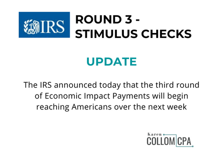IRS Begins Third Round of Stimulus Checks
