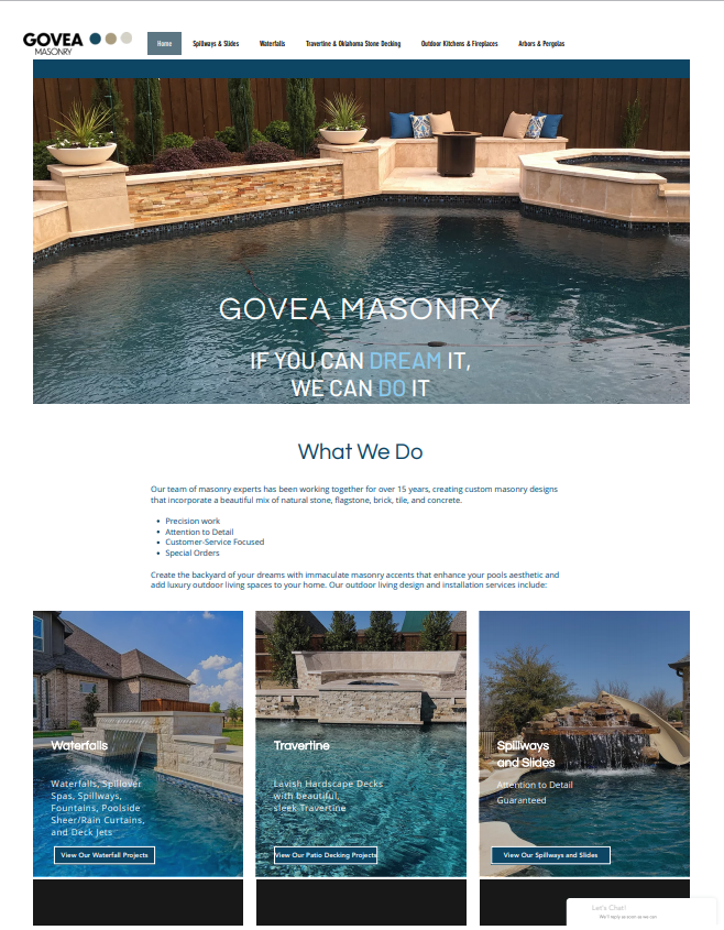 Govea Masonry Website