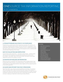 Tax Information Reporting Cover