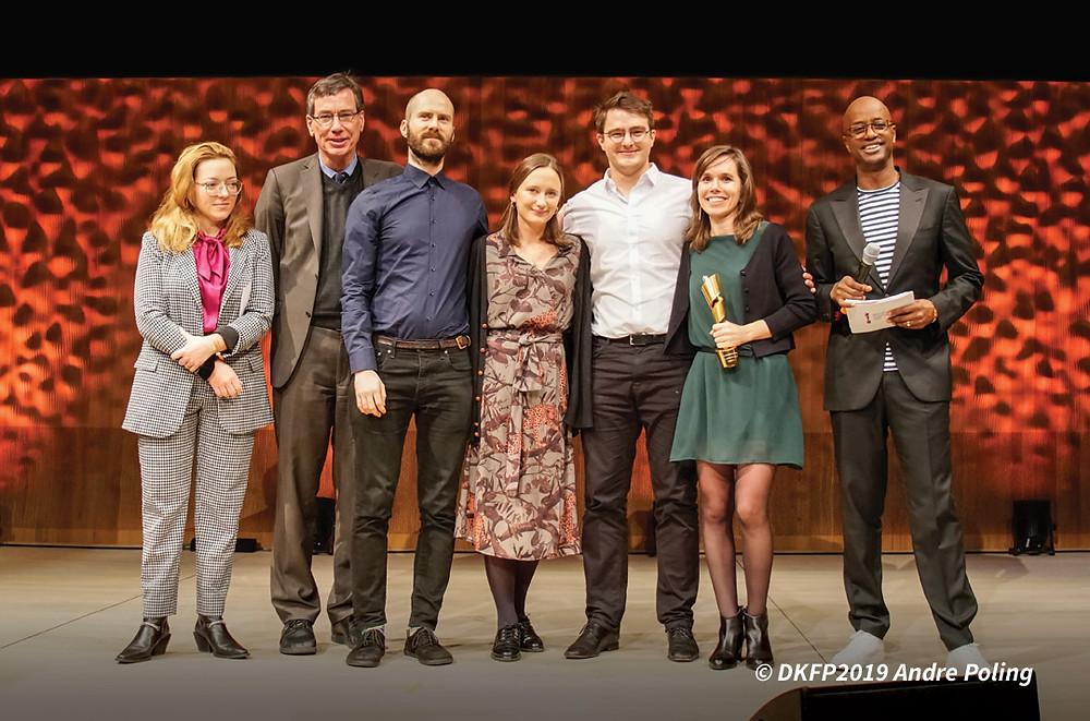 Maria Trigo Teixeira recebe o premiu Kurzfilmpreis