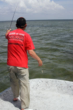 Fishing for redfish and trout on the Texas flats