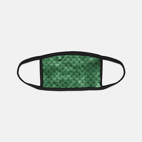 Emerald Darkness Mermaid Scales Black Edge Face Cover