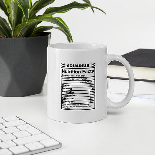 Aquarius Nutrition Facts Zodiac Nutrition Facts Vol. 1 Mug
