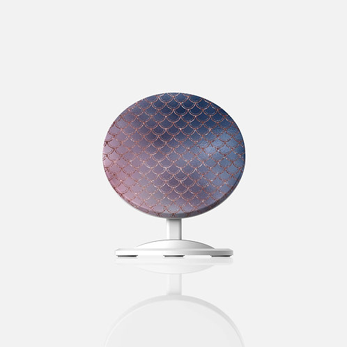 Blush + Navy Ombre Mermaid Scales Wireless Charger