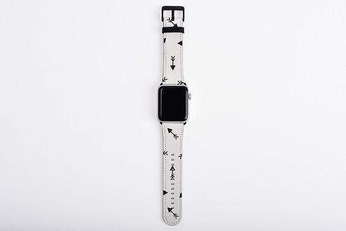 Black + White Mini Arrows Apple Watch Band