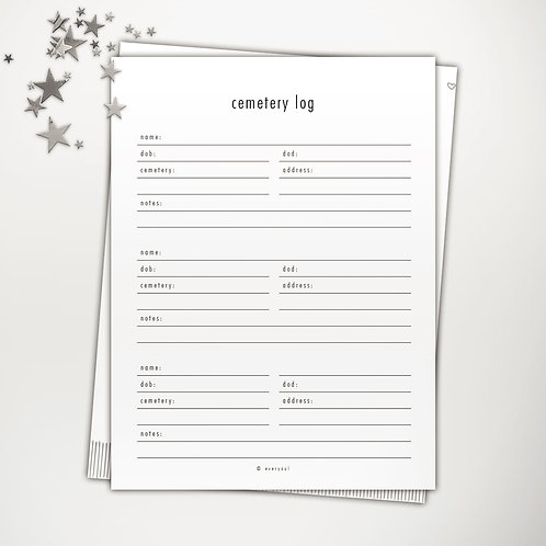 Cemetery Log PowerPoint Template