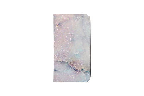 Unicorn Cotton Candy Glittered Folio Wallet Case