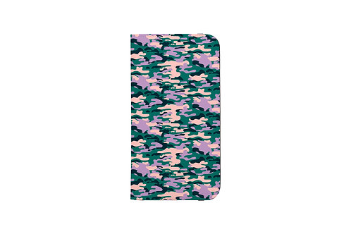 Camouflage Ori. Lavender Folio Wallet Case