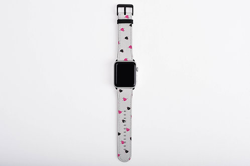 Anti-Valentines Voodoo Hearts Designer Apple Watch Band