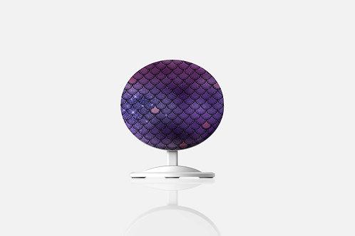 Indigo Glittered Mermaid Scales Wireless Charger