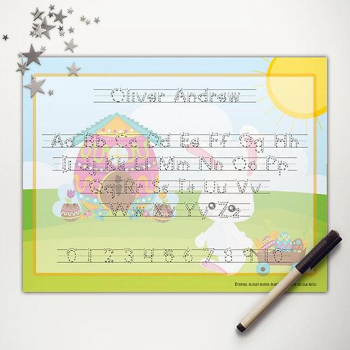 Easter Bunny Wagon Writing Mat (print)