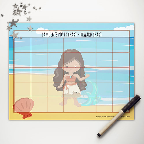 Beach Princess Basic Reward Chart