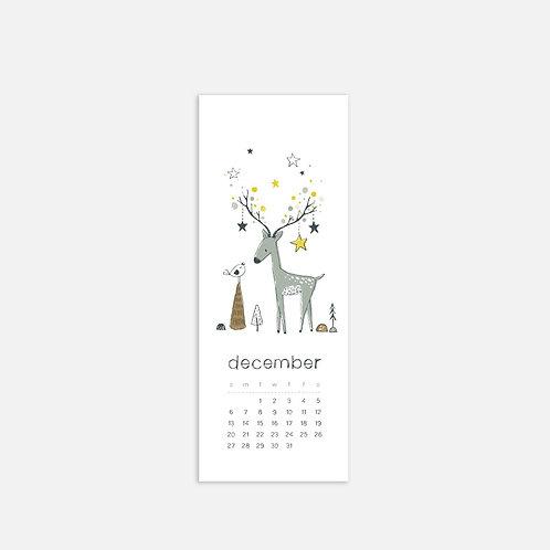 Whimsical Ye. December 2020 Half Sheet Calendar