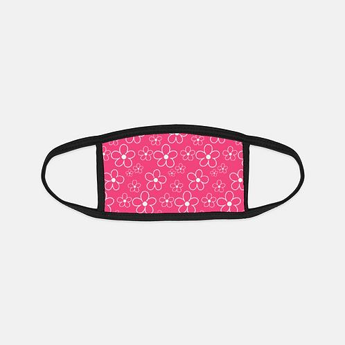 Best Spring Ever Floral Pink Black Edge Face Cover