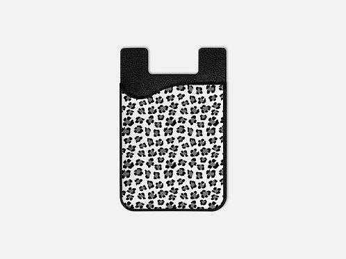 Snow Leopard Print Card Holder