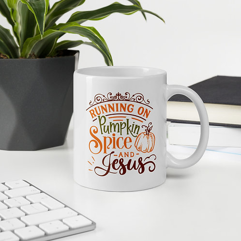 Running On Pumpkin Spice & Jesus Pumpkin Spice Vol. 1 Mug