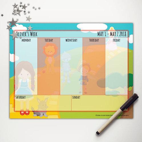 Yellow Brick Road Friends Weekly Calendar