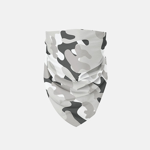 Black + White Camo Designer Bandana