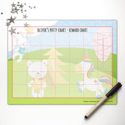 Dreamy Unicorn + Friends Basic Reward Chart