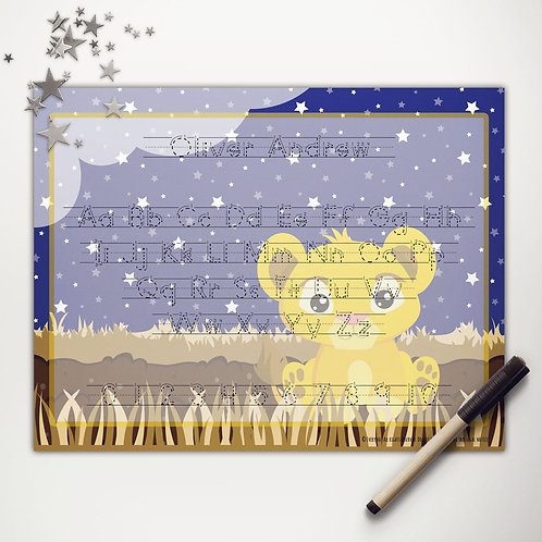 Pride Lands Little Lion Writing Mat (print)