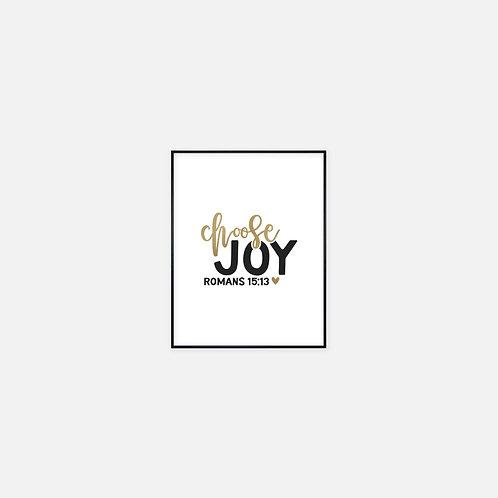 Choose Joy Printable Wall Art