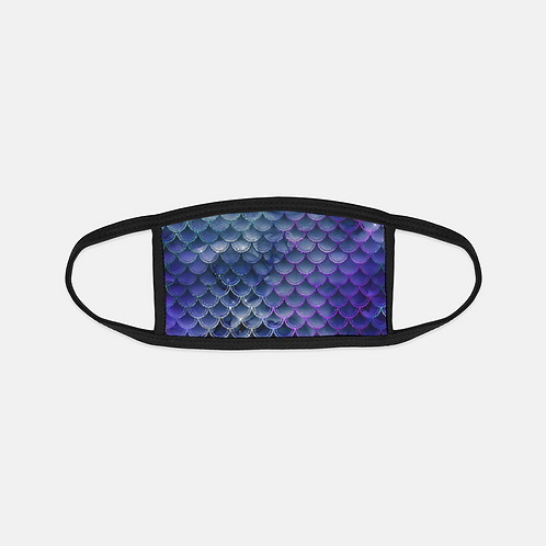 Midnight Mermaid Scales Black Edge Face Cover