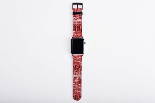 Valentine Flannel Brush Strokes Apple Watch Band