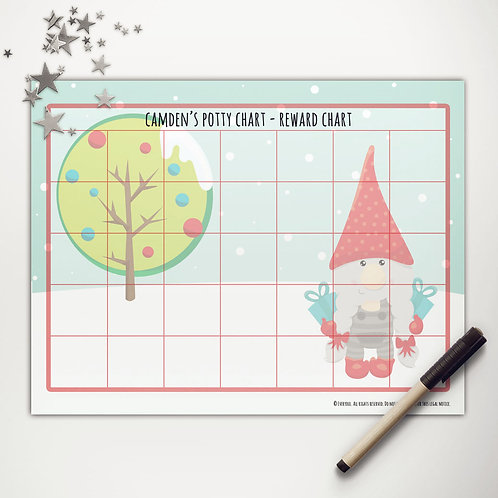 Christmas Gnome Basic Reward Chart