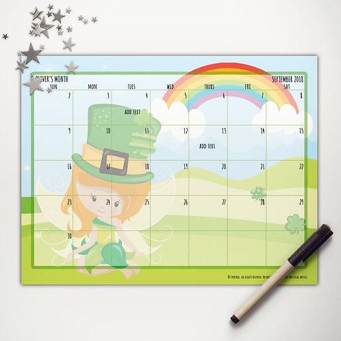 Good Luck Fairy Monthly Calendar (light skin)