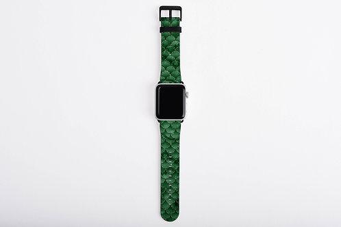Emerald Darkness Mermaid Scales Designer Apple Watch Band