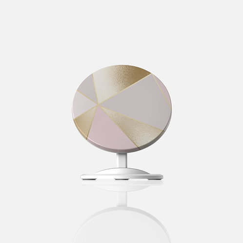 Rose + Gold Geo Trianlges Wireless Charger