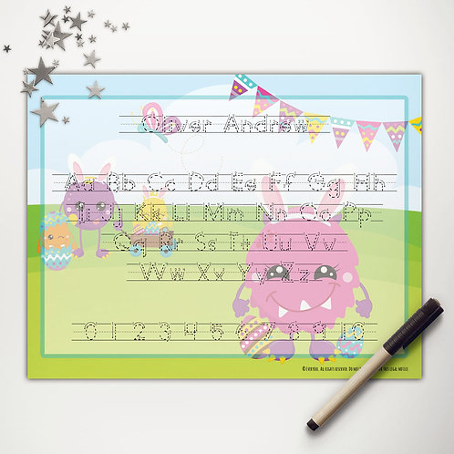 Easter Monsters Writing Mat (print)