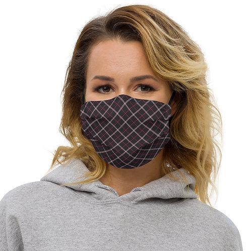 Anti-Valentines Plaid Premium Face Cover with Pocket