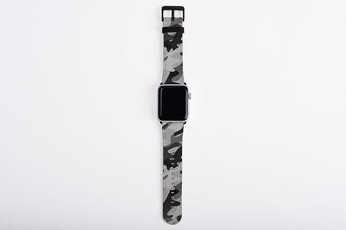 Black + White Camo Apple Watch Band