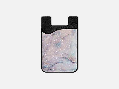 Unicorn Cotton Candy Glittered Card Holder