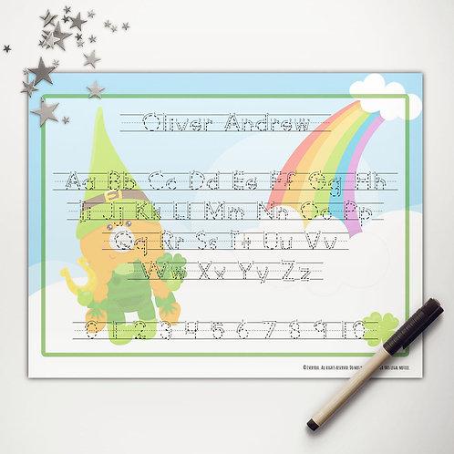 Good Luck Gnome Writing Mat (print)