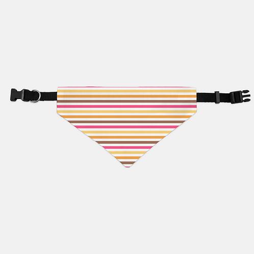 Bab Giraffe Stripes Pink Pet Bandana Collar