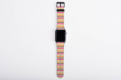 Bab Giraffe Stripes Pink Designer Apple Watch Band