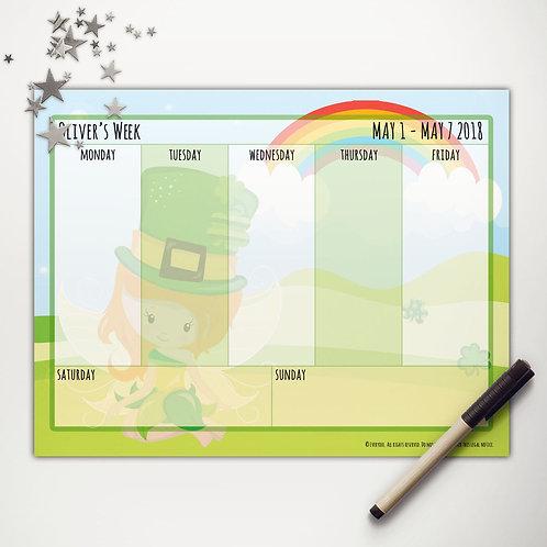 Good Luck Fairy Weekly Calendar (light skin)