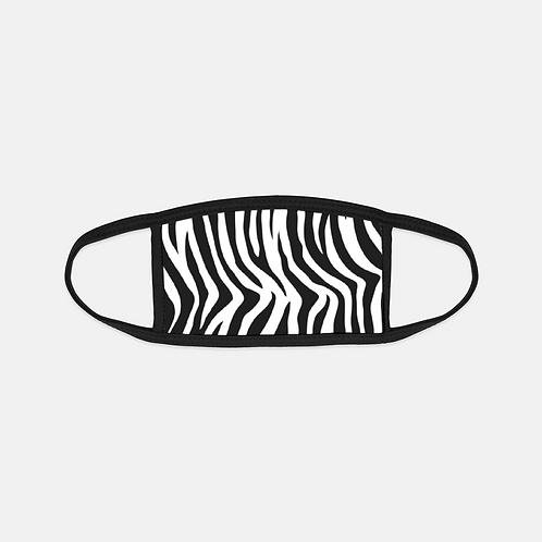 Zebra Animal Print Black Edge Face Cover