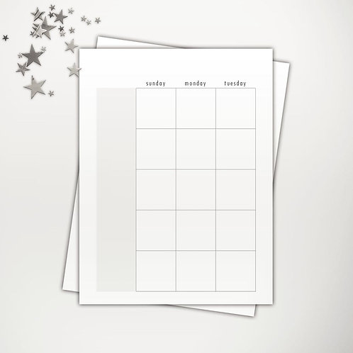Undated Classic Planner PowerPoint Template (month V1 | weeks V1)