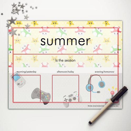 Little Gamer Basic Weather Chart