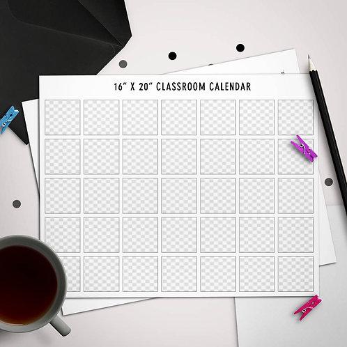 """16"""" x 20"""" Classroom Calendar Template"""
