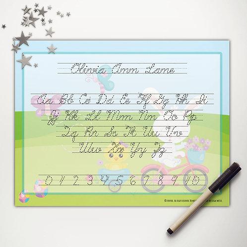 Easter Ride Writing Mat (cursive)