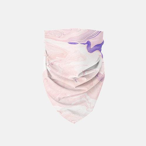 Swirled Pink + Purple Marbled Designer Bandana