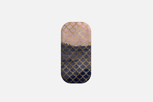 Blush + Navy Tragic Mermaid Scales Designer Clickit